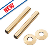 Arroll Pipe Shroud Kit Antique Brass 130 x 18mm