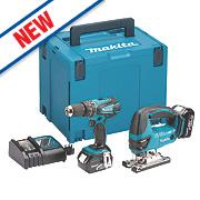 Makita DLX2024MJ 18V 4Ah Li-Ion LXT Cordless Combi Drill & Jigsaw Twin Pack
