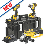 DeWalt DCK382M3-GB 18V 4.0Ah Li-lon XR Cordless Triple Pack