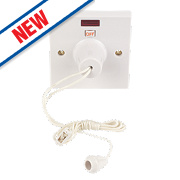 LAP 50A DP Ceiling Pull Cord Switch White