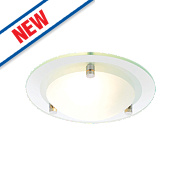 Spa Draco Bathroom Ceiling Light Glass G9 28W