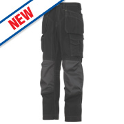 Snickers Rip-Stop Pro-Kevlar Floorlayer Trousers Grey / Black 33