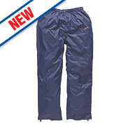 "Scruffs Pac-Away Trousers Waterproof Navy 32"" W "" L"