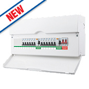 BG 16-Way Dual RCD Metal Consumer Unit & 12 MCBs