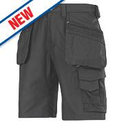 "Snickers Craftsmen 3014 Multi-Pocket Shorts Black 31"" W"