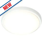 Saxby Delaware LED Flush Ceiling Light Gloss White 20W