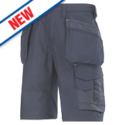 "Snickers Craftsmen 3014 Multi-Pocket Shorts Navy 33"" W"