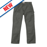 Carhartt Washed Duck Work Trousers Moss Green 36