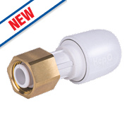 Hep2O Push-Fit Straight Tap Connector 10mm x ¾""