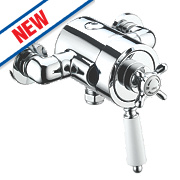 Bristan 1901 Thermostatic Bar Mixer Shower Valve Fixed Exposed Chrome