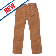 "Carhartt Washed Duck Work Trousers Carhartt Brown 38"" W 32"" L"