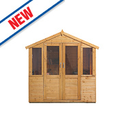Forest Barley Wood Summerhouse 2.26 x 1.58 x 2.23m