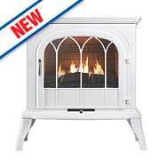 Focal Point Leirvik White Gas Flueless Stove