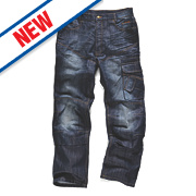 """Scruffs Trade Denim Jeans Blue 38"""" W 32"""" L"""