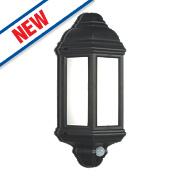 Saxby Halbury 7W Matt Black Half Lantern 500Lm