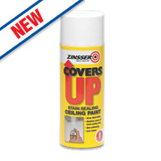 Zinsser Covers Up Vertical Ceiling Spray Paint Flat White 400ml