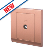 Retrotouch Simplicity 1-Gang TV Coaxial Socket Bronze