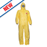 "Tychem CHA5 Chemical Disposable Coverall Yellow Large 42"" Chest 31"" L"