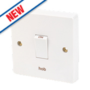 Crabtree 20A 1G Hob Switch White Pack of 10