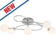 Mirella 5-Light Round LED Pendant Light Chrome 15W