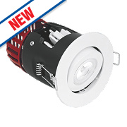 Aurora Fire Rated Adjustable LED Downlight IP20 White 10W