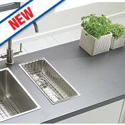 Astracast Inset/Undermount Sink Brushed Stainless Steel ½ Bowl 192 x 430mm