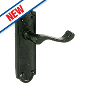 Turnberry LoB Latch Door Handles Antique Black 48 x 170mm