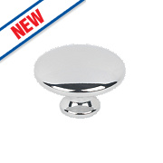 Hafele Modern Cabinet Knob Polished Chrome 34mm