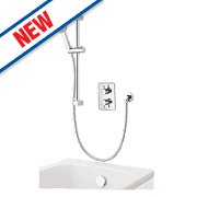 Aqualisa DCV Thermostatic Mixer Shower with Bath Filler Built-In Chrome