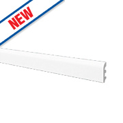 Rounded Skirting Board White 2.44m x 100mm x 20mm Pack of 6