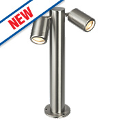 Saxby Odyssey 7W Brushed Stainless Steel Post Light