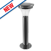 Cole & Bright Gardman Motion Sensor Solar Post Light Black Nickel