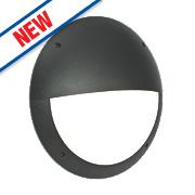 Saxby Seran LED Bulkhead Matt Black 12W