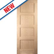 Jeld-Wen Shaker 4-Panel Interior Fire Door Oak Veneer 1981 x 686mm