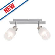 Brilliant Giorgia 2-Light LED Spotlight Satin Chrome 450Lm 5W