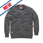 "Scruffs Crew Neck Quilted Fleece Jumper Charcoal Large 44-46"" Chest"