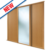 Spacepro 2 Door Sliding Wardrobe Doors Oak / Mirror 1780 x 2260mm