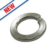 Split Ring Washers BZP M8 Pack of 100