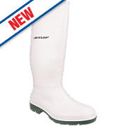Dunlop Pricemaster Non-Safety Wellington Boots White Size 10