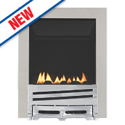 Focal Point Horizon Chrome Rotary Control Gas Inset Flueless Fire