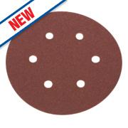 Flexovit Sanding Discs Punched 150mm 50 Grit Pack of 6