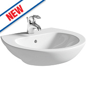 Grove Semi-Recessed Basin 1 Tap Hole 550mm