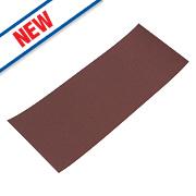 Flexovit Sanding Sheets Aluminium Oxide 230 x 93mm 120 Grit Pack of 10