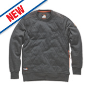 Scruffs Crew Neck Quilted Fleece Jumper Charcoal XX Large 48-50