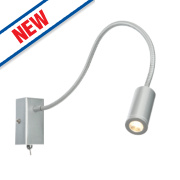 Striker LED Wall Light Satin Silver 3W 240V