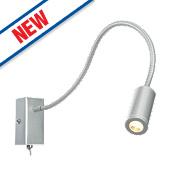 Striker LED Wall Light Satin Silver 3W 240V