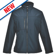 Portwest Charlotte Ladies Soft Shell Jacket Navy Small