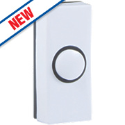 Byron Wired Bell Push White