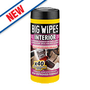 Big Wipes Vehicle Interior Wipes Pack of 40