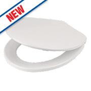 Swirl Quick-Release Toilet Seat Polypropylene White